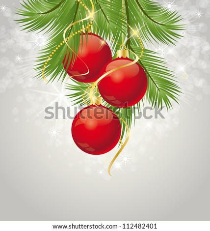 Christmas background decorated with branches