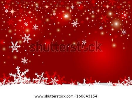 Christmas background design of snowflake