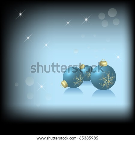Christmas background in blue on black (eps10 vector)