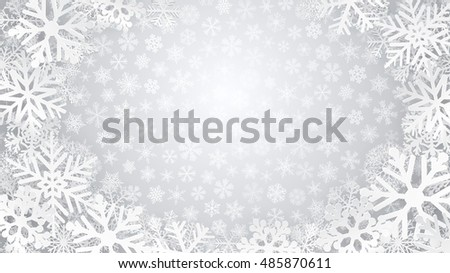 christmas background in gray