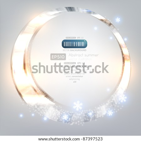 Christmas background light and snowflakes vector image. Eps 10.