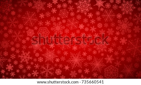 stock-vector-christmas-background-of-big-and-small-snowflakes-white-on-red
