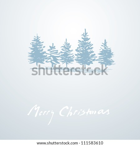 Christmas background simple Christmas card