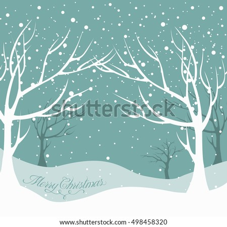 christmas background snow