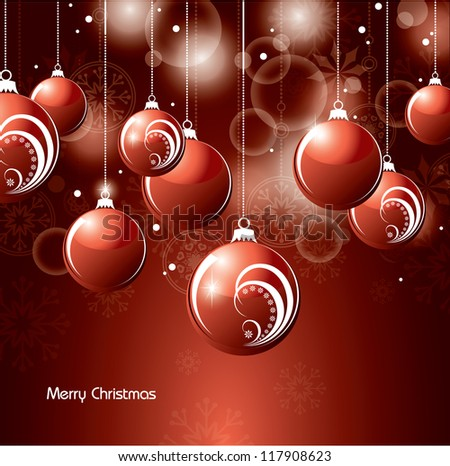 Christmas Background. Vector.
