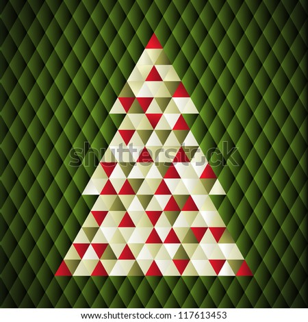 Christmas background. Vector illustration. Merry Christmas. Happy New Year. Vector pattern. Vintage vector. Christmas tree. Abstract art. Modern art. Xmas background