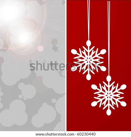 christmas background. vector.  snowflake