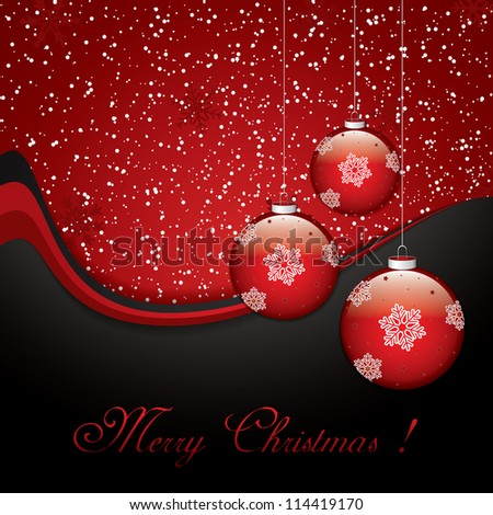 Christmas background with baubles.Vector