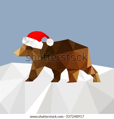 christmas background with bear