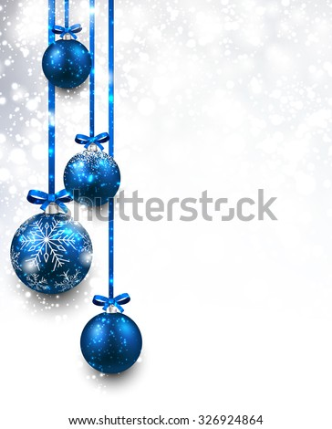 christmas background with blue