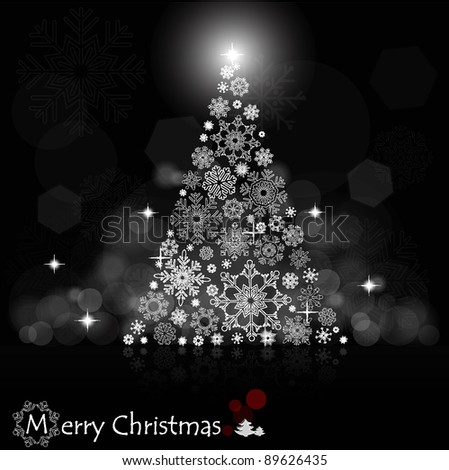 Christmas background with Christmas tree illustration.