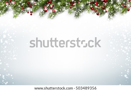 stock-vector-christmas-background-with-fir-branches-and-holly-berries-vector-illustration