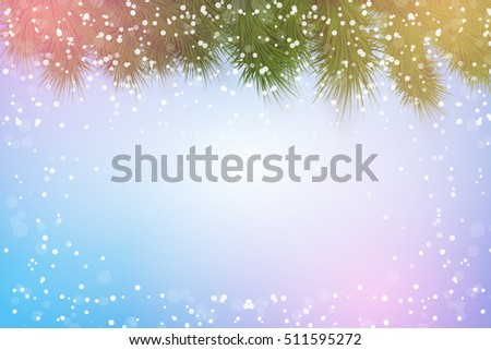 christmas background with magic