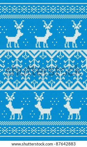 Christmas background with Norwegian pattern