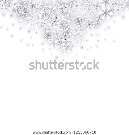Christmas Background with Paper Snowflakes #1215360718