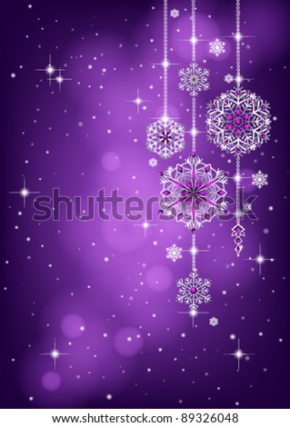 Christmas background with snowflake decoration