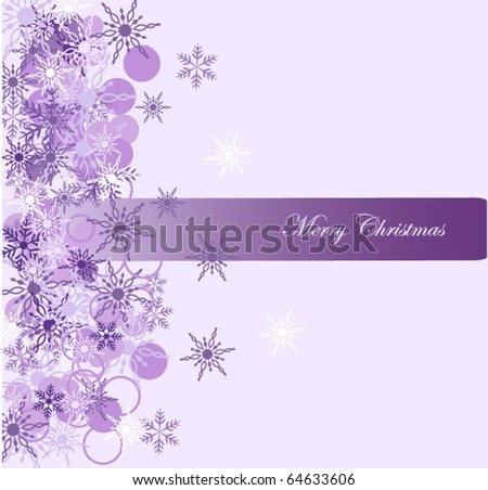 Christmas background with snowflake vector illustration