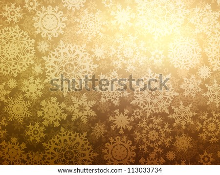 Christmas background with snowflakes. EPS 8 vector file included - stock vector