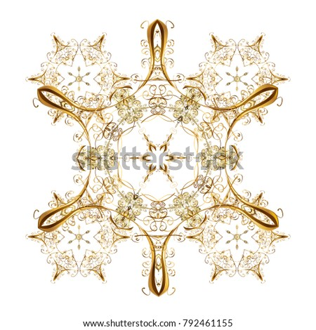 Christmas background with snowflakes. Vector illustration. Vector christmas abstract colorful background with cute snowflake. Winter abstract background.