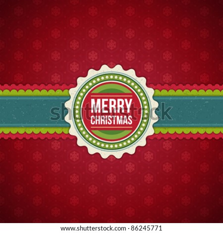 Christmas background with snowflakes vector image. Eps 10.