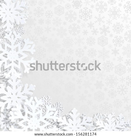 christmas background with white