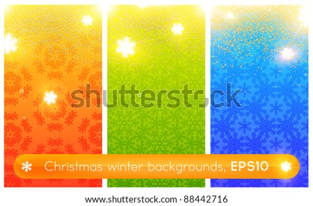 christmas backgrounds set with christmas elements, vector illustration
