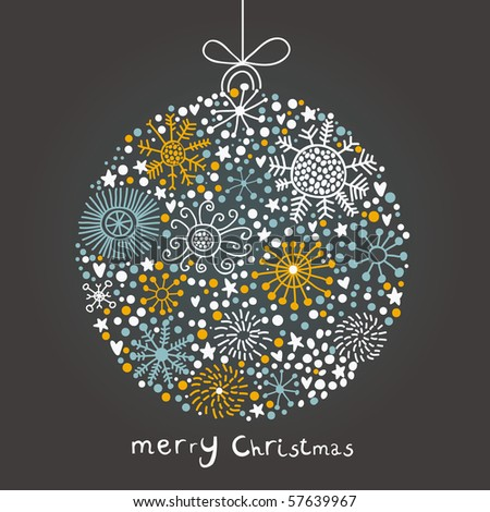 Stock Photo Christmas ball in cartoon style