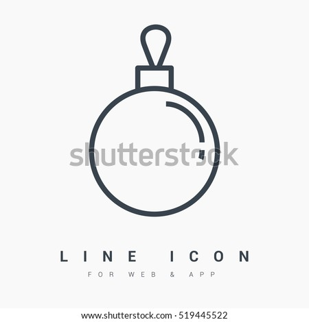 christmas ball isolated minimal