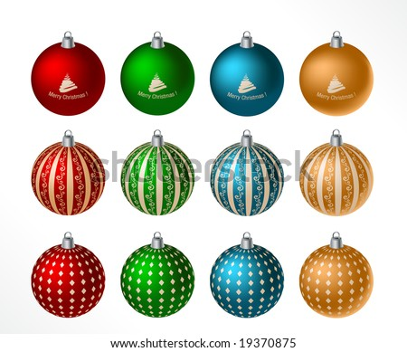 christmas ball - isolated objects - vector