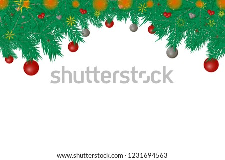 Christmas ball isolated on white background. #1231694563