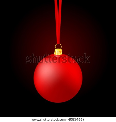 Christmas ball on deep black background