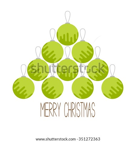 christmas ball set triangle