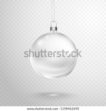 christmas ball with silver