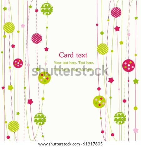 Christmas balls and stars, vector ornaments
