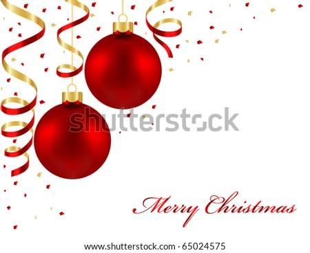 Christmas balls  and streamers #65024575