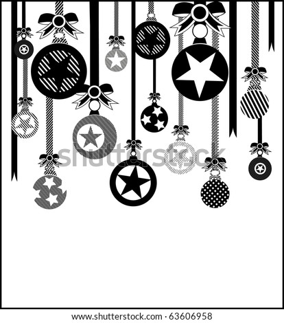 Christmas balls - Christmas and New Year's background
