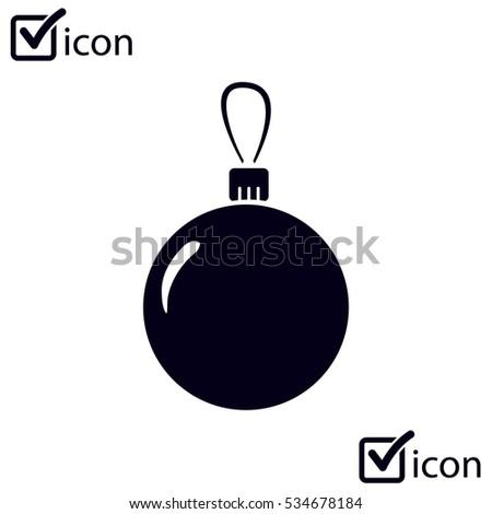 Christmas balls icon.
