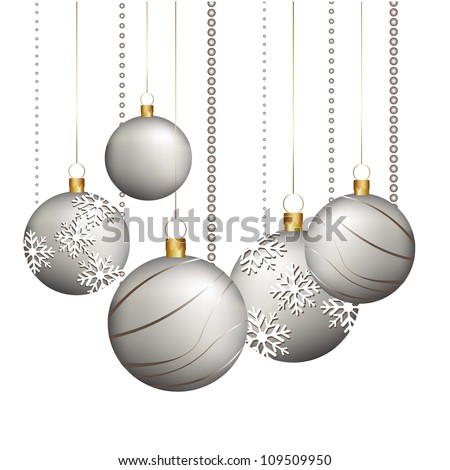 christmas balls isolated over white background. vector illustration