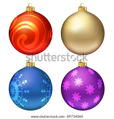 Christmas balls set. Vector eps10 illustration