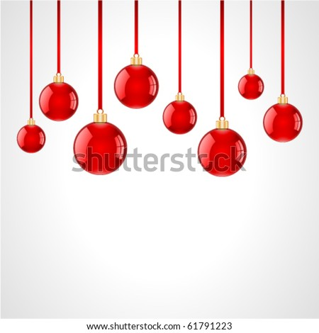 Christmas balls vector background. Eps 10 #61791223