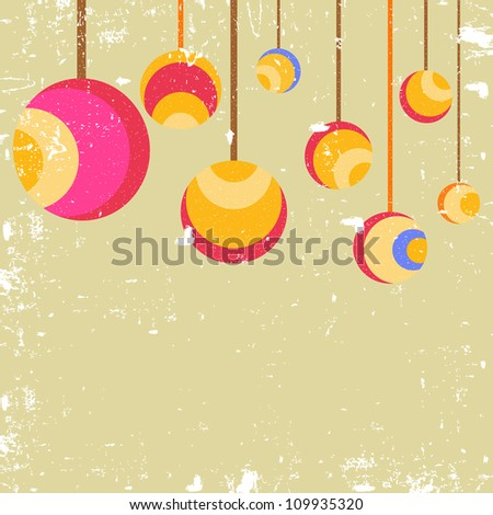 Christmas Balls. vector illustration.