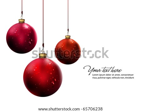 Christmas Balls with Shiny Water Drops   Vector Set