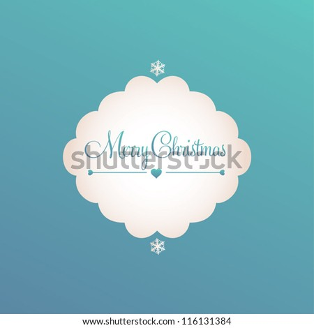 Christmas banner and decorative elements, vintage frames, labels, stickers. Snowflake