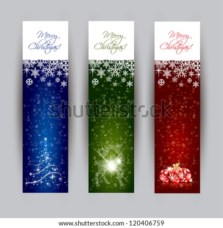 Christmas banner concepts in editable vector format
