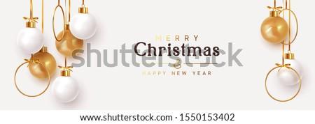 christmas banner hanging white