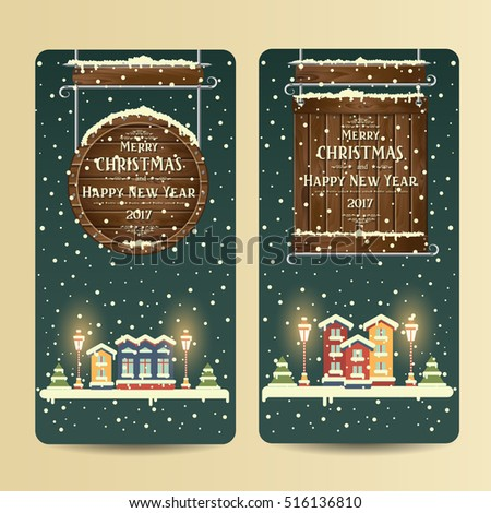 christmas banners with