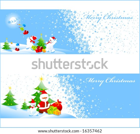 Christmas banners with space for your text - stock vector