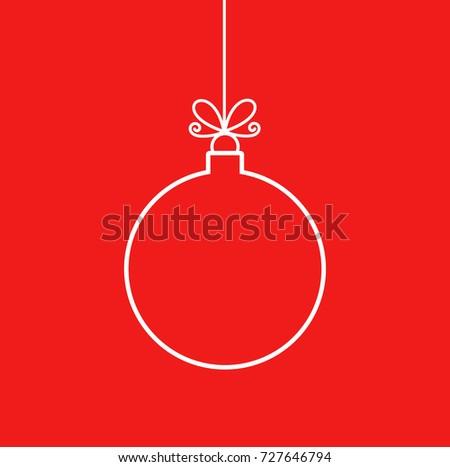 Christmas bauble ornament outline shape. Vector illustration