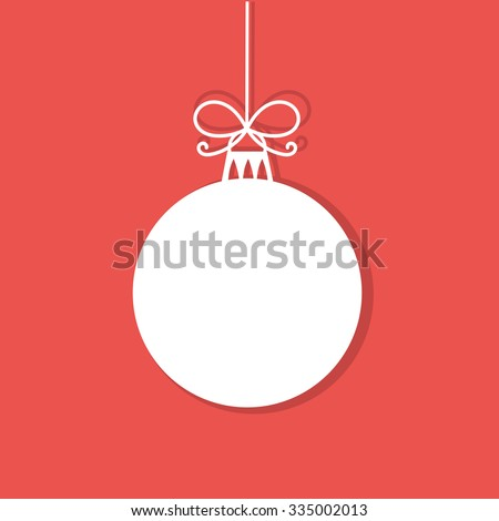 christmas bauble white tag