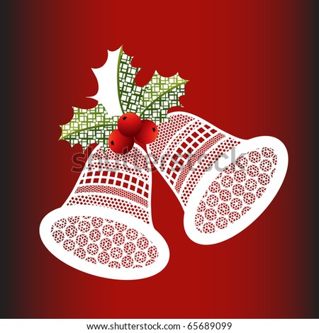 christmas bells #2 - holly leaves have a geometric pattern